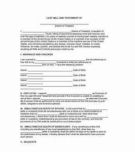 wills and testaments templates images template design ideas With template for wills