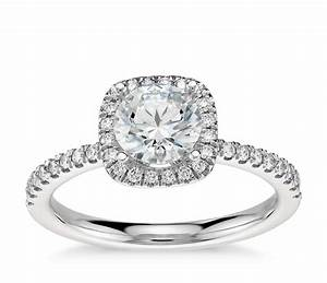 arietta halo diamond engagement ring in platinum 1 5 ct With wedding ring with halo