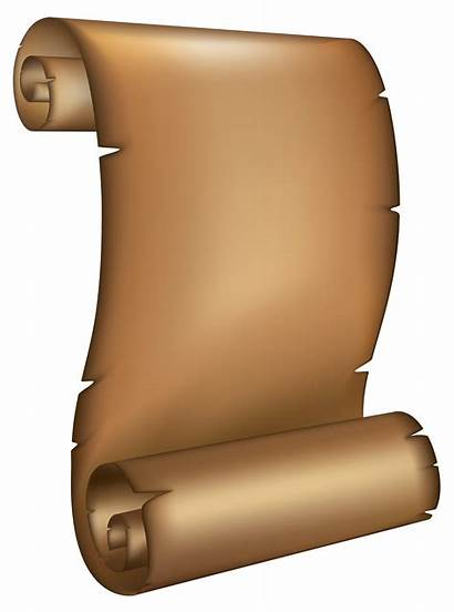 Scrolls Paper Clipart Ancient Scroll Scrolled Pap