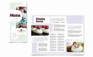 bakery cupcake shop menu template word publisher With publisher menu templates free