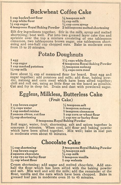 """""""Best War Time Recipes"""" by the Royal Baking Company, New"""