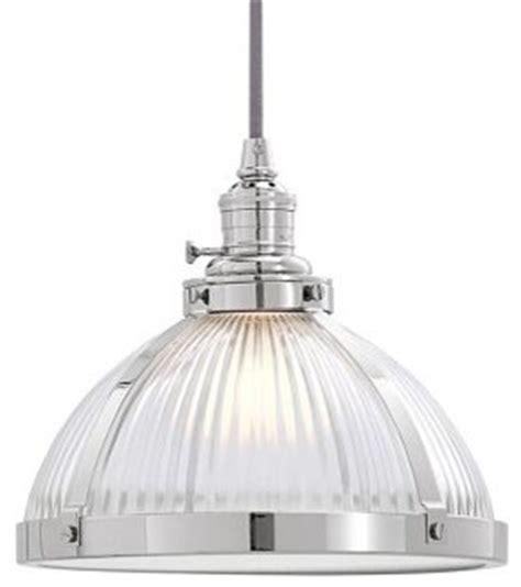 pendant kit nickel finish ribbed glass small shade