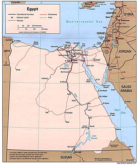 Egypt Political Map Political Map Of Egypt