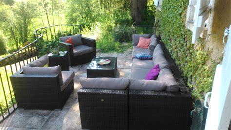 table et chaise resine tressee pas cher awesome salon de jardin aluminium resine tressee photos