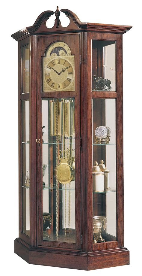 mission curio clock canadian home grandfather clocks shop featuring howard miller