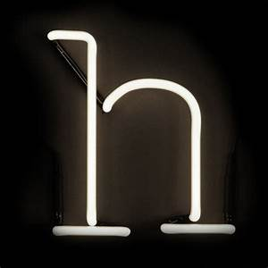seletti neon wall light letter h iwoot With neon wall letters