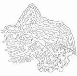 Picchu Machu sketch template