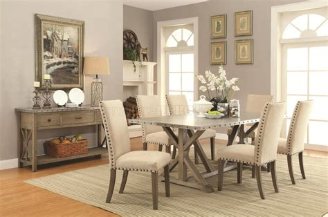 Room Ideas Set by Webber Dining Table 105571 In Driftwood By Coaster W Options
