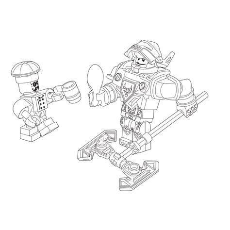 Kleurplaten Nexo Knights Clay by Leuk Voor Lego Nexo Knights Ridder Axl Chef Eclair