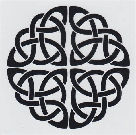 Celtic Circle Black Quaterary Knot Car Window Sticker ...
