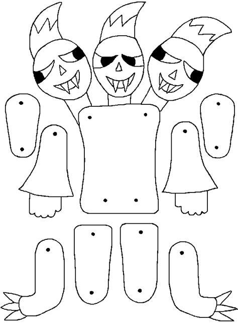 figure da ritagliare e ricomporre mostro tre teste disegni da colorare