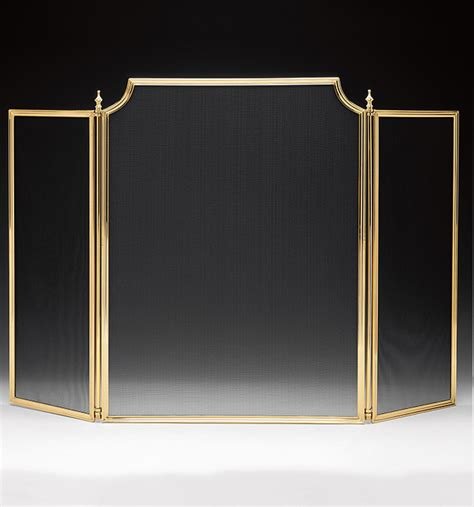 brass fireplace screens fireplace screens small and large fireplace screens