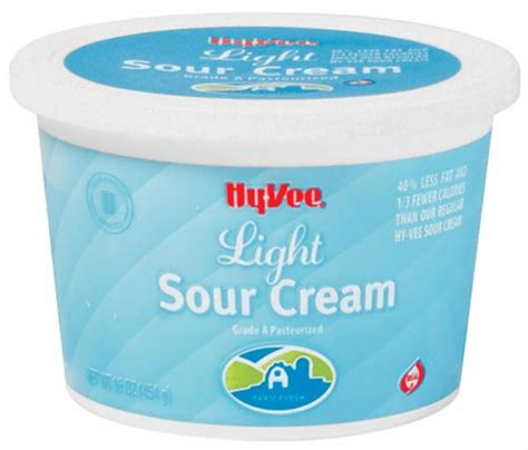 calories in light sour cream hy vee light sour cream calories nutrition analysis
