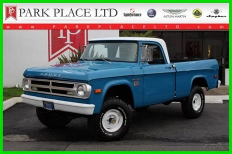 This vehicle is located in yankton, south dakota. 1970 Dodge Power Wagon 4x4, Automatic, very usable Classic ...