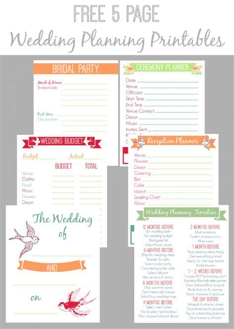 30 page wedding planning printable bread booze bacon
