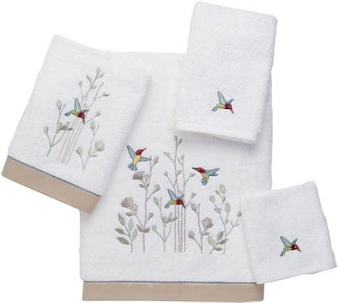avanti premier hummingbird 4 piece towel set white