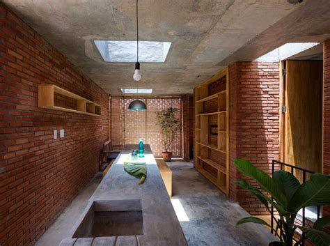 small brick house  tropical space interiorzine