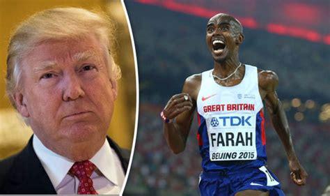 sir mo farah criticise trumps travel ban queen