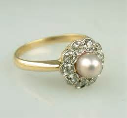 pearl engagement rings gold vintage pearl wedding rings but chic ipunya