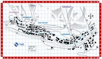 Vail Village Colorado Map