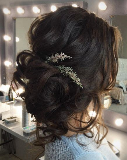 loose curls updo wedding hairstyle hair wedding