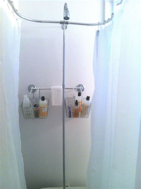 shower curtain solutions for clawfoot tub rack for clawfoot tub my clawfoot tub storage solution