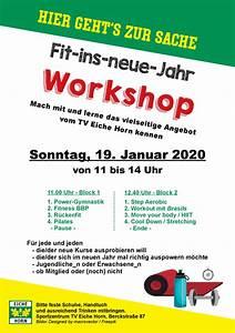Tv Eiche Horn : fit ins neue jahr workshop tv eiche horn ~ A.2002-acura-tl-radio.info Haus und Dekorationen