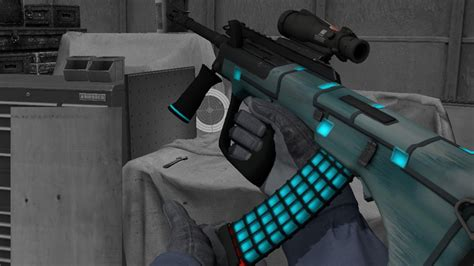 blue metal aug counter strike global offensive skin