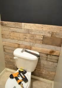 diy tutorial pallet bathroom wall 99 pallets