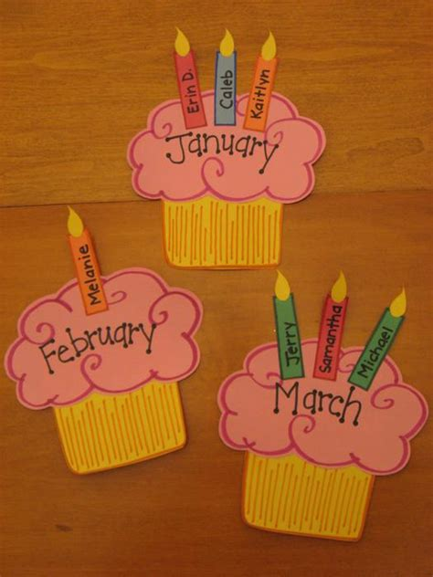 birthday bulletin board ideas for preschool cupcake birthday wall preschool amp kindergarten bulletin 785