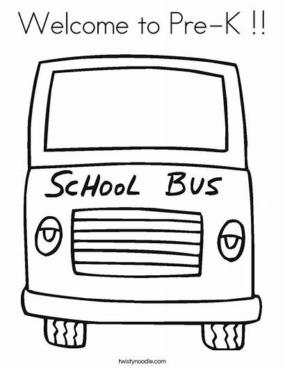 Coloring Welcome Pre Sheet Kindergarten Twistynoodle Bus
