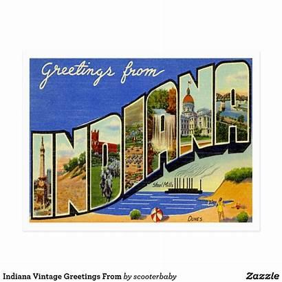 Postcard Indiana Greetings Postcards Zazzle States Travel