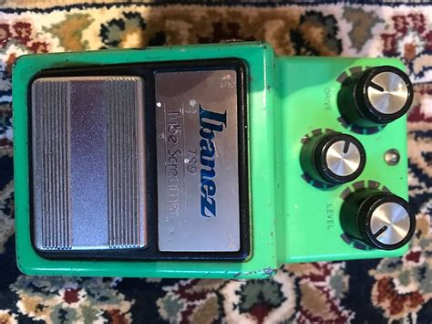 ibanez ts  vintage  distortion  green reverb