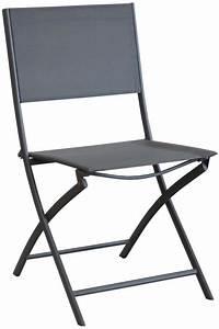 Chaise En Acier : chaise pliante en acier et toile dream lot de 6 gris ~ Teatrodelosmanantiales.com Idées de Décoration