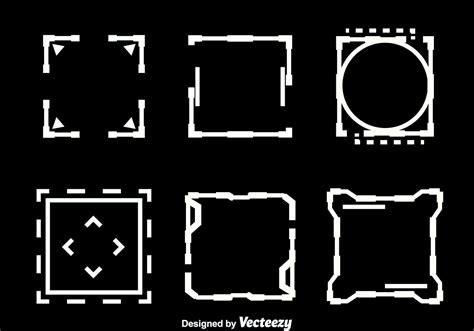 square hud element vectors   vectors
