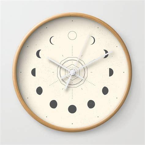 moon phases light wall clock by naylasmith society6
