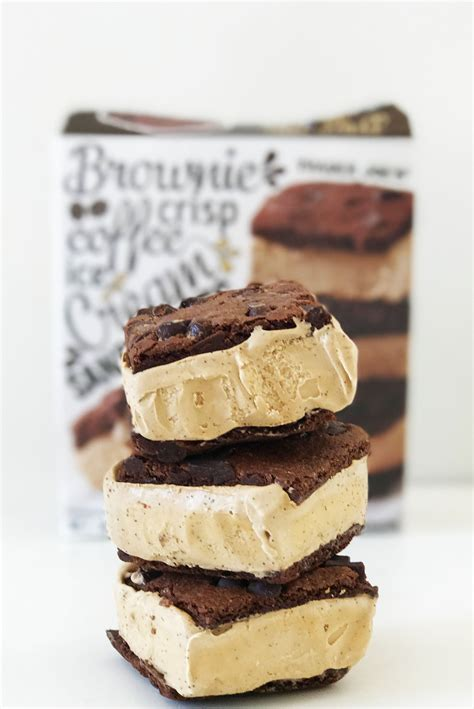 There are many additional coffee ice cream products on the market, however, the manufacturers do not readily provide the caffeine content. Trader Joe's Brownie Crisp Coffee Ice Cream Sandwiches | POPSUGAR Food