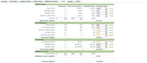 landscaping costs calculator proposal tool for landscapers lawn estimate calculator