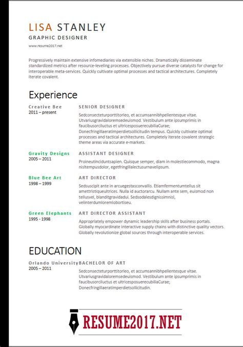 resume format   latest templates  word