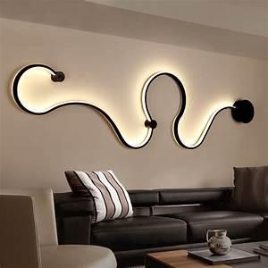 Modern, Minimalist, Creative, Wall, Lamp, Black, White, Led, Indoor, Living, Room, Bedroom, Bedside, Wall