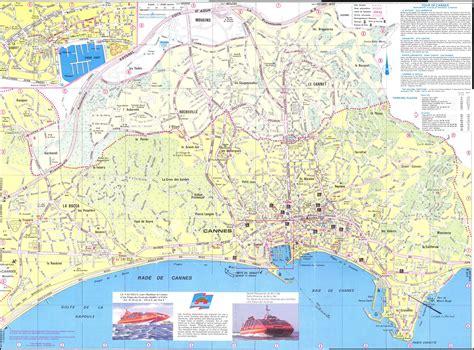 cannes si鑒es cannes plan de la ciudad mapas imprimidos de cannes francia con posibilidad de descargar
