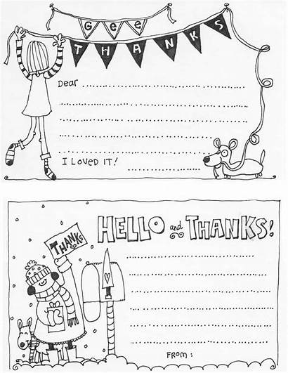 Thank Printable Cards Coloring Blank Printables Templates