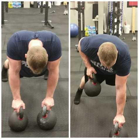 kettlebell exercises bestrong scapulae joint unstable retracted spine extended left kneeling right