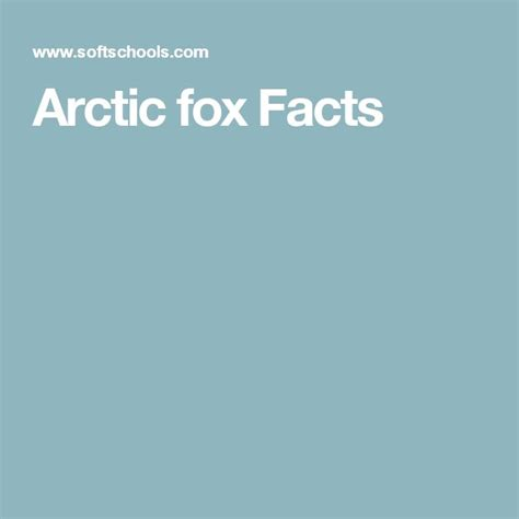 17 best ideas about arctic fox facts on arctic