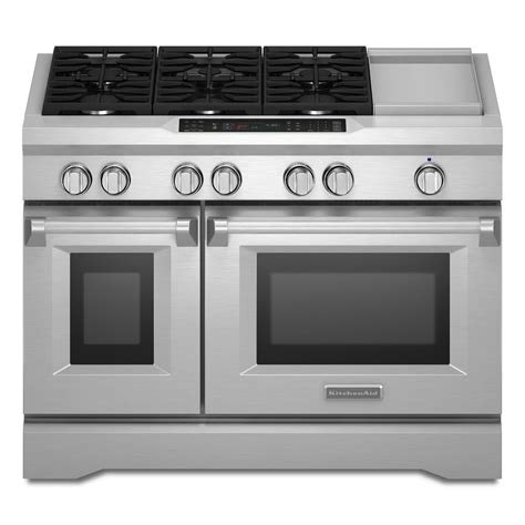 Kitchenaid Oven by Kitchenaid Commercial Style 48 In 6 3 Cu Ft Slide In