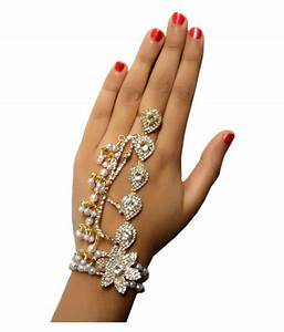 Womensky, Presents, Best, Wedding, Accessories, For, Bride, Silver, U0026, Gold, Plated, Hath, Phool, Hand, Thong