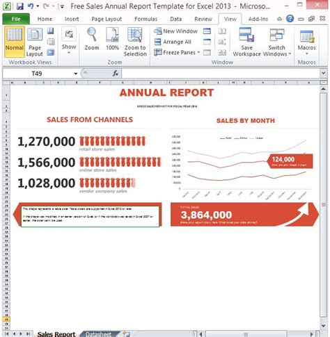 free annual report free sales annual report template for excel 2013