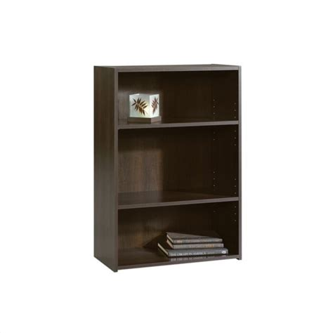 sauder beginnings organizer bookcase ebony ash sauder beginnings 3 shelf bookcase cherry bookcases in
