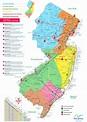 New Jersey tourist map