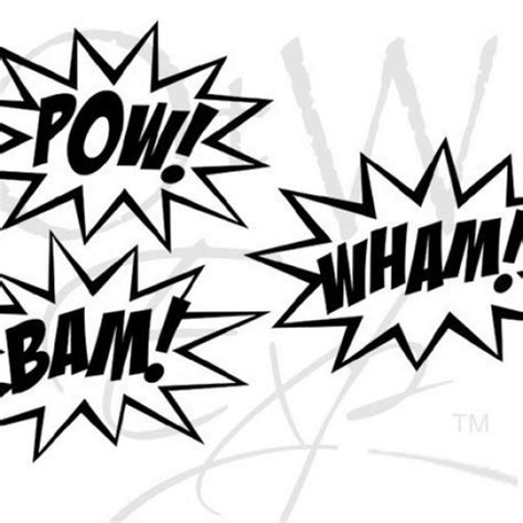 zap clipart black and white black and white pow symbol